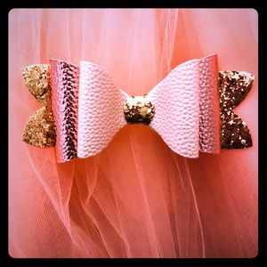 Glitter double stacked Hairbow